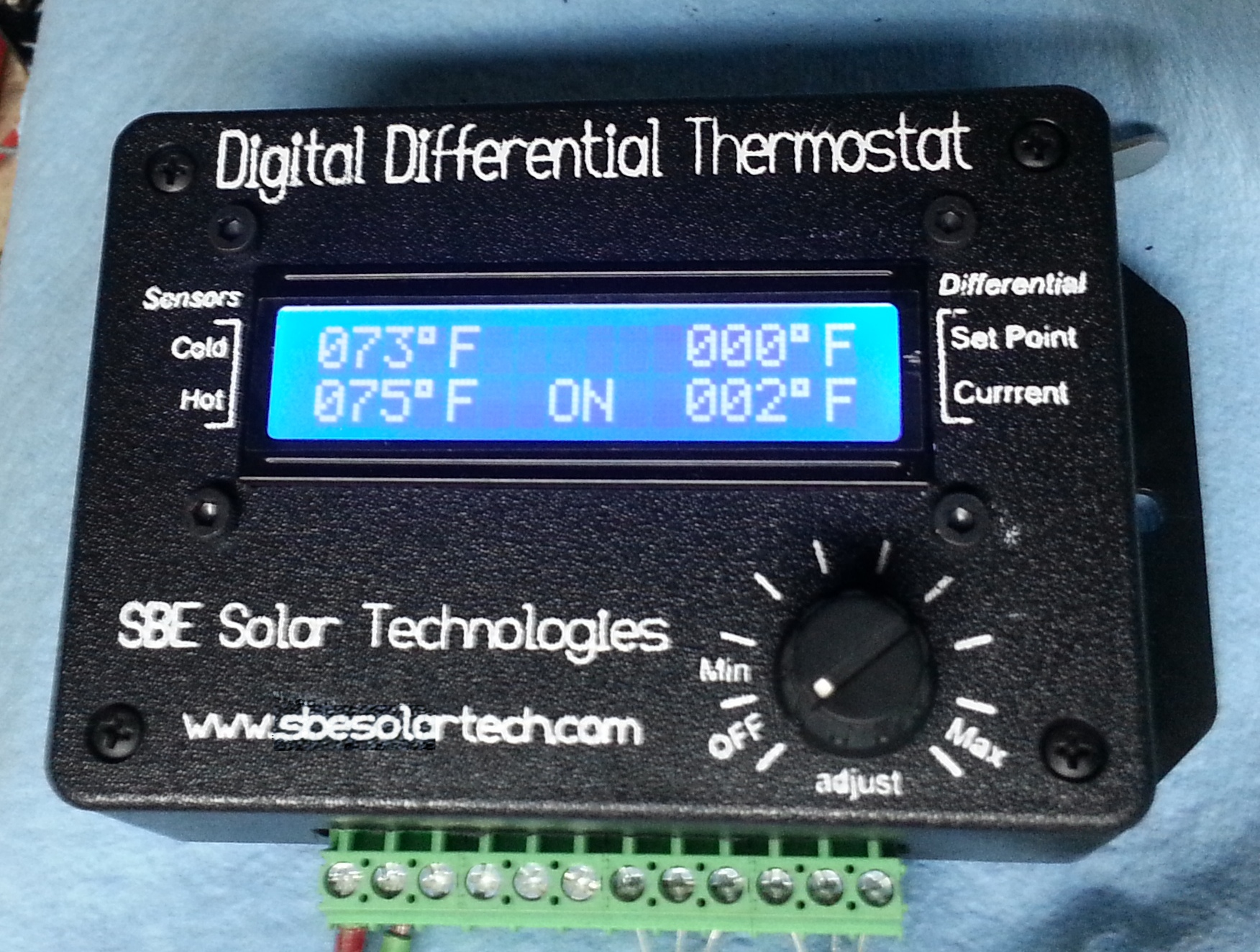 Sbesolartech Digital Differential Thermostats Solid State Relay Project Sbe Solar Technologies